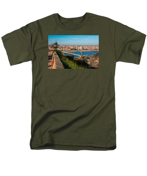 Men's T-Shirt  (Regular Fit) featuring the photograph Novi Sad Vojvodina View From Petrovaradin Fortress by Jivko Nakev