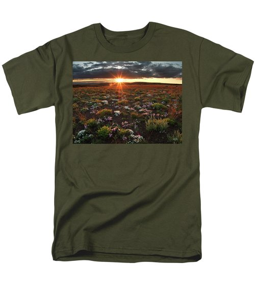 Men's T-Shirt  (Regular Fit) featuring the photograph Nuttalls Linanthastrum by Leland D Howard