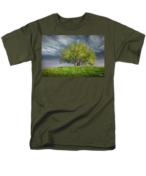 Oak Tree With Tire Swing Men's T-Shirt  (Regular Fit) by Endre Balogh