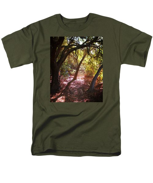 Men's T-Shirt  (Regular Fit) featuring the photograph Oaken Woodland 2 by Timothy Bulone