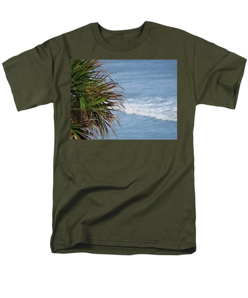 Ocean And Palm Leaves Men's T-Shirt  (Regular Fit) by Kathy Long