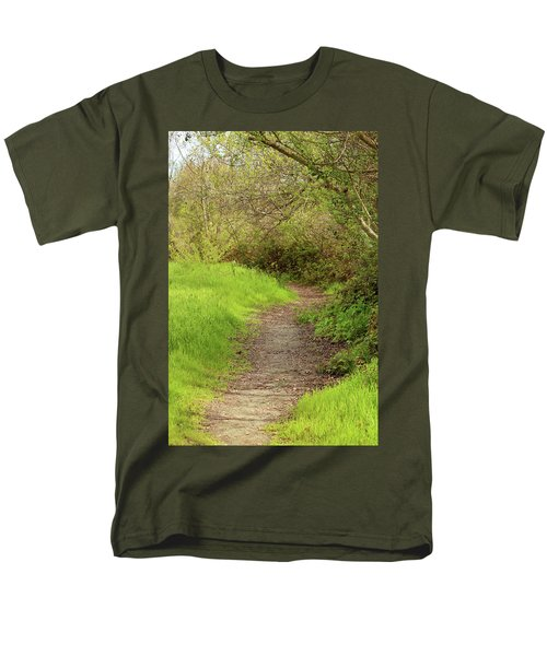 Men's T-Shirt  (Regular Fit) featuring the photograph Oceano Lagoon Trail by Art Block Collections