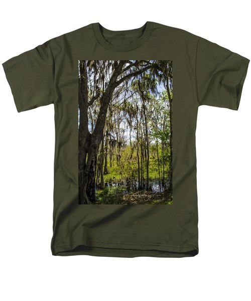 Men's T-Shirt  (Regular Fit) featuring the photograph Ocklawaha Spanish Moss In The Swamp by Deborah Smolinske