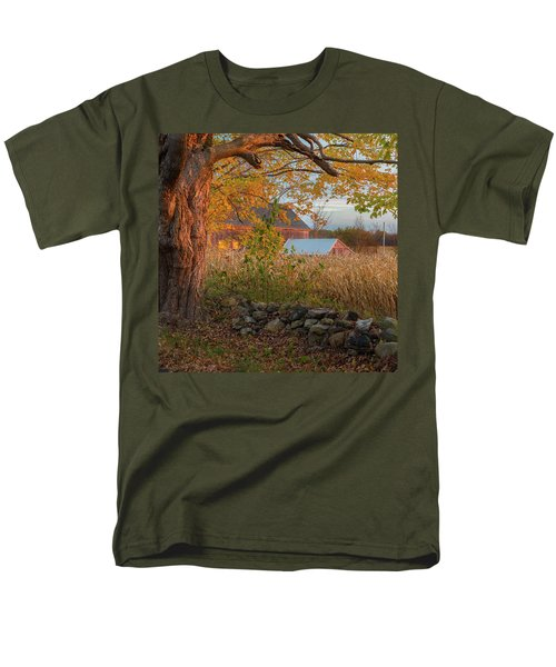 Men's T-Shirt  (Regular Fit) featuring the photograph October Morning 2016 Square by Bill Wakeley