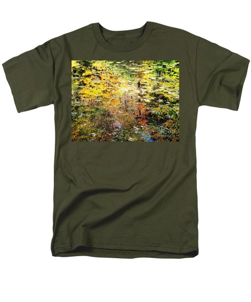 Men's T-Shirt  (Regular Fit) featuring the photograph October Pond by Melissa Stoudt