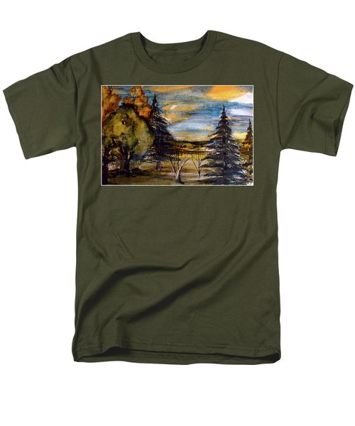 Men's T-Shirt  (Regular Fit) featuring the painting Ohio Sunset by Mindy Newman
