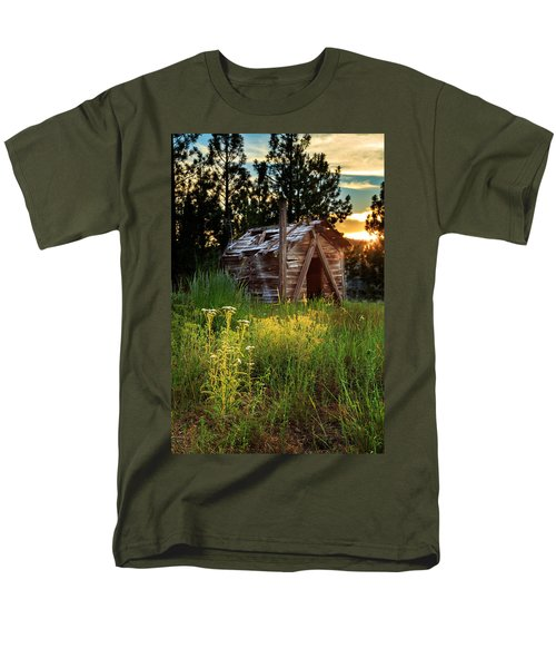 Old Cabin At Sunset Men's T-Shirt  (Regular Fit) by James Eddy