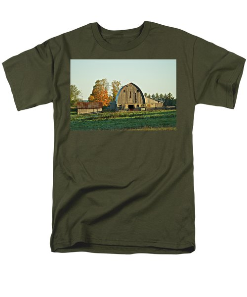 Old Country Barn_9302 Men's T-Shirt  (Regular Fit) by Michael Peychich