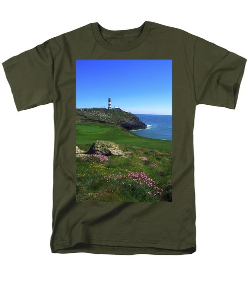 Old Head Of Kinsale Lighthouse Men's T-Shirt  (Regular Fit) by The Irish Image Collection