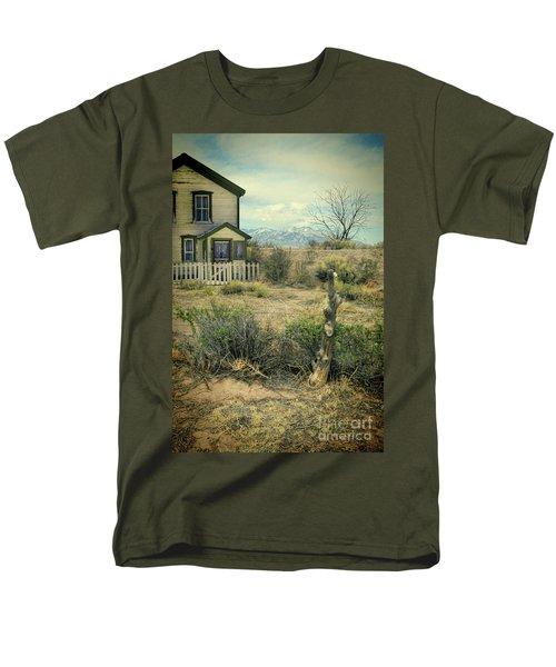 Men's T-Shirt  (Regular Fit) featuring the photograph Old House Near Mountians by Jill Battaglia