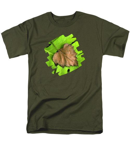 Old Leaf New Leaf Men's T-Shirt  (Regular Fit) by Christina Rollo