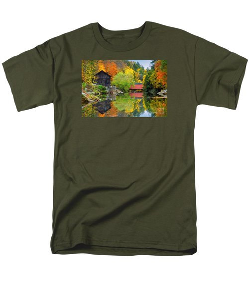 Old Mill In The Fall  Men's T-Shirt  (Regular Fit) by Emmanuel Panagiotakis