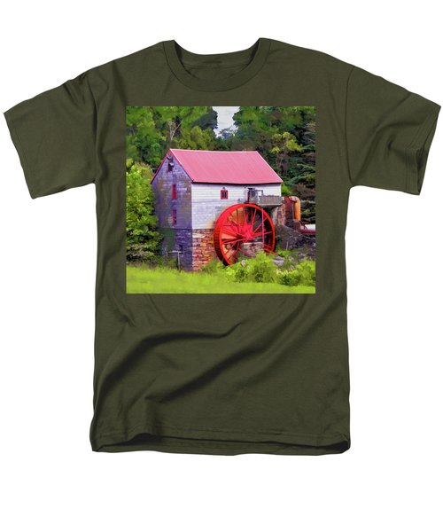 Old Mill Of Guilford Painted Square Men's T-Shirt  (Regular Fit) by Sandi OReilly