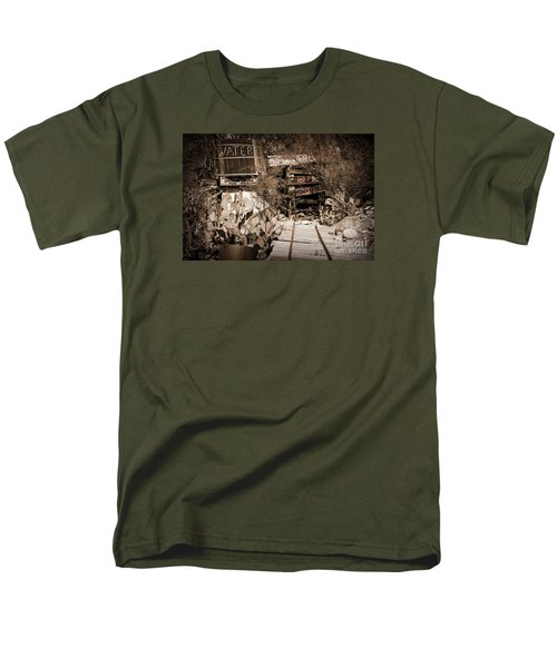 Men's T-Shirt  (Regular Fit) featuring the photograph Old Mining Tracks by Kirt Tisdale