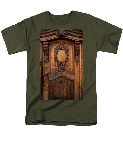 Old Ornamented Wooden Doors Men's T-Shirt  (Regular Fit) by Jaroslaw Blaminsky