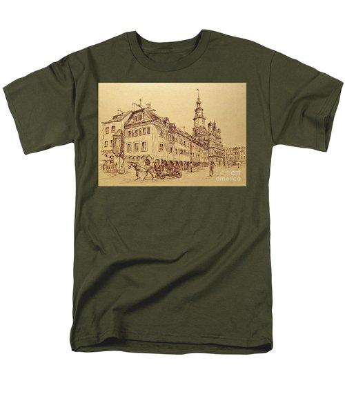 Old Poznan Drawing Men's T-Shirt  (Regular Fit)