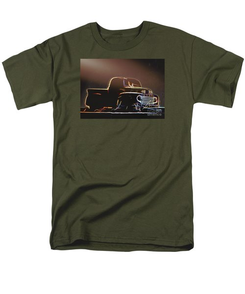 Men's T-Shirt  (Regular Fit) featuring the photograph Old Sketched Pickup by Jim Lepard
