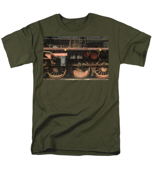 Old  Steam Train ...france Men's T-Shirt  (Regular Fit) by Pierre Van Dijk