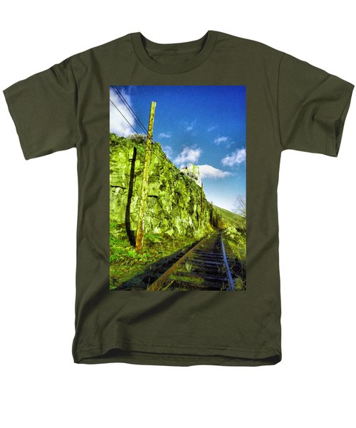 Men's T-Shirt  (Regular Fit) featuring the photograph Old Trolly Tracks by Jeff Swan