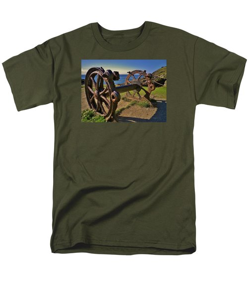 Old Winch Tintagel Men's T-Shirt  (Regular Fit) by Richard Brookes