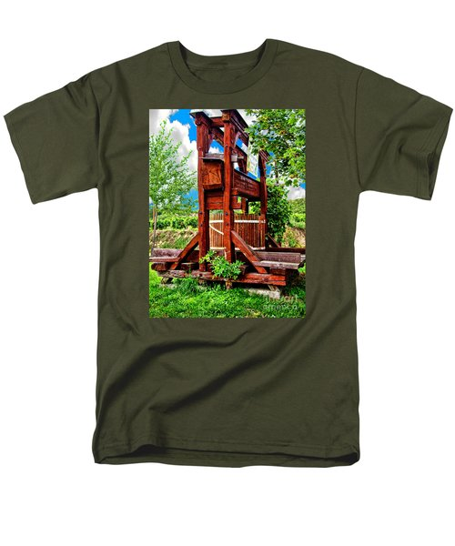 Old Wine Press Men's T-Shirt  (Regular Fit) by Mariola Bitner