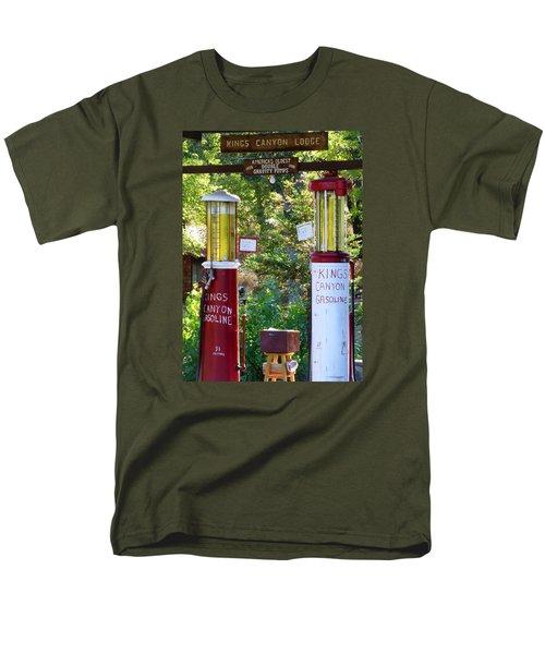 Oldest Dbl. Gravity Gas Pumps 1928 Men's T-Shirt  (Regular Fit) by Amelia Racca