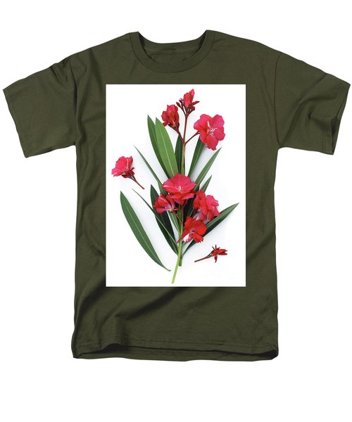 Men's T-Shirt  (Regular Fit) featuring the photograph Oleander Geant Des Batailles 2 by Wilhelm Hufnagl