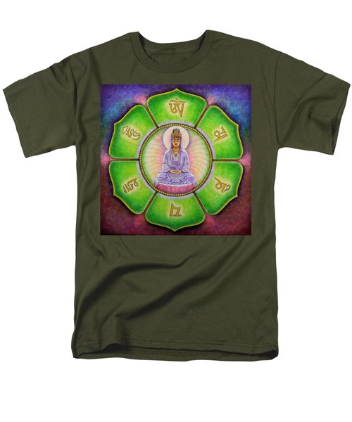 Om Mani Padme Hum Kuan Yin Men's T-Shirt  (Regular Fit) by Sue Halstenberg