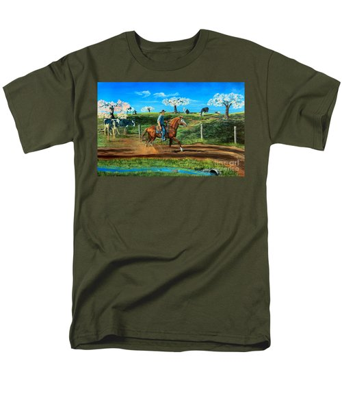 On A Spring Morning Men's T-Shirt  (Regular Fit) by Ruanna Sion Shadd a'Dann'l Yoder