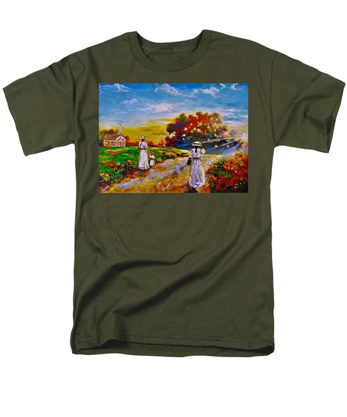 Men's T-Shirt  (Regular Fit) featuring the painting On My Way Home by Emery Franklin