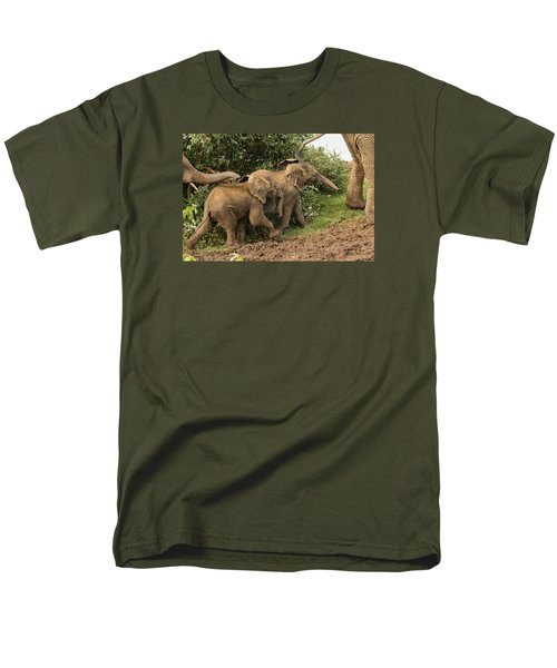Men's T-Shirt  (Regular Fit) featuring the photograph On The March by Gary Hall