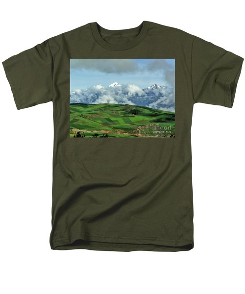 On The Road From Cusco To Urubamba Men's T-Shirt  (Regular Fit) by Michele Penner
