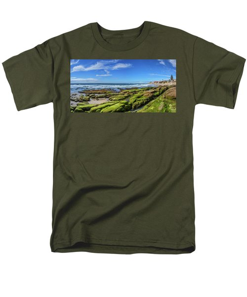 Men's T-Shirt  (Regular Fit) featuring the photograph On The Rocky Coast by Peter Tellone