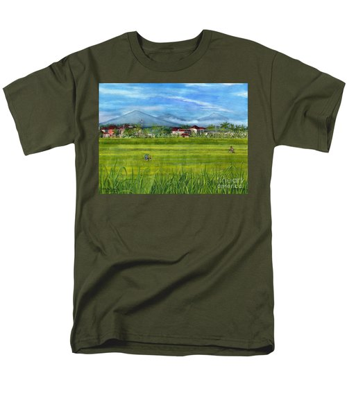 Men's T-Shirt  (Regular Fit) featuring the painting On The Way To Ubud 3 Bali Indonesia by Melly Terpening