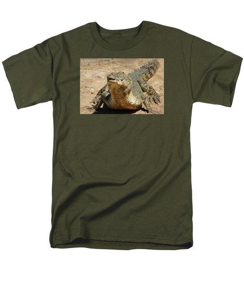 One Crazy Saltwater Crocodile Men's T-Shirt  (Regular Fit)