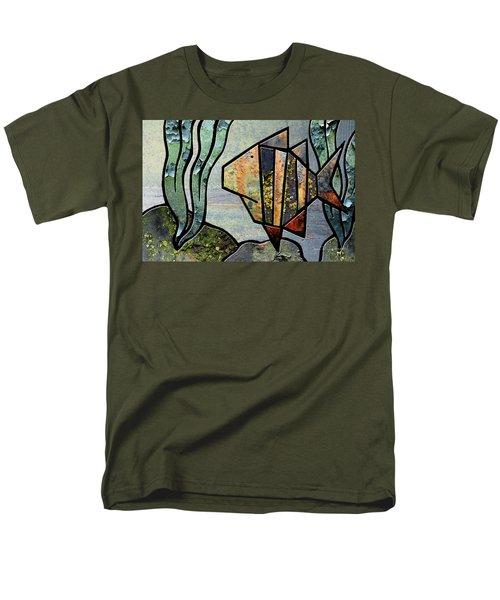One Fish Men's T-Shirt  (Regular Fit) by Joan Ladendorf