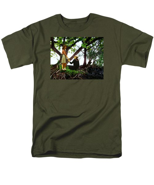 One Moment In Paradise Men's T-Shirt  (Regular Fit) by Timothy Bulone