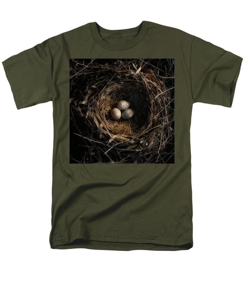 Men's T-Shirt  (Regular Fit) featuring the photograph One Of The Most Private Things In The World Is An Egg Until It Is Broken Mfk Fisher by Mark Fuller