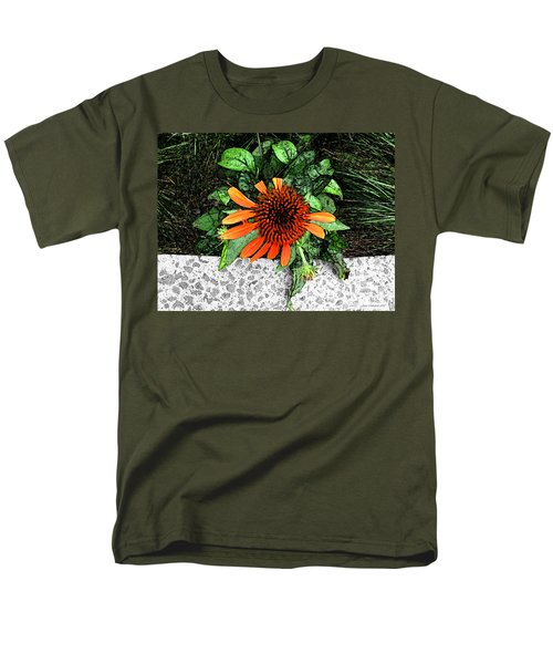 Men's T-Shirt  (Regular Fit) featuring the photograph Orange At Highline Nyc by Joan  Minchak