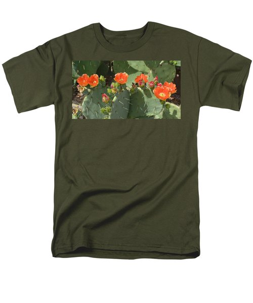 Orange Dream Cactus Men's T-Shirt  (Regular Fit) by Aimee L Maher Photography and Art Visit ALMGallerydotcom