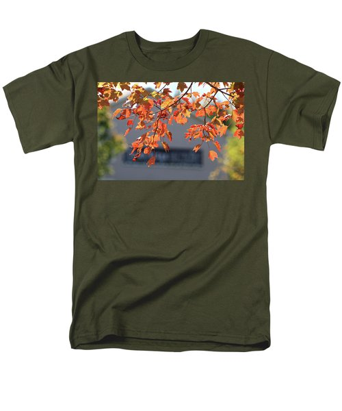 Orange Leaves Of Autumn Men's T-Shirt  (Regular Fit) by Michele Wilson