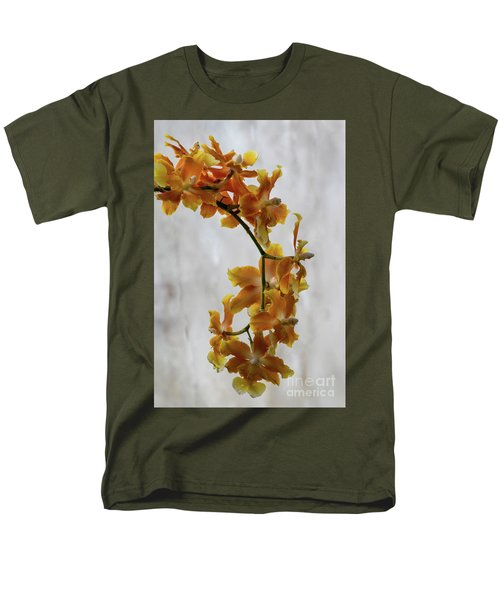Orange Orchids Men's T-Shirt  (Regular Fit) by Darleen Stry