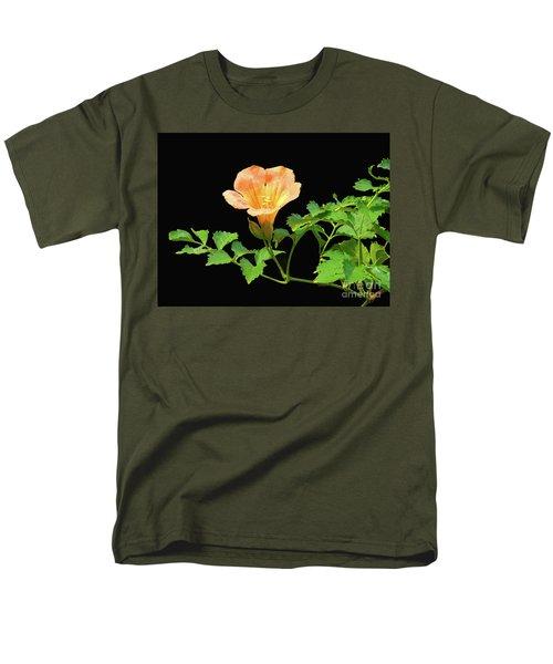 Orange Trumpet Flower Men's T-Shirt  (Regular Fit) by Susan Lafleur