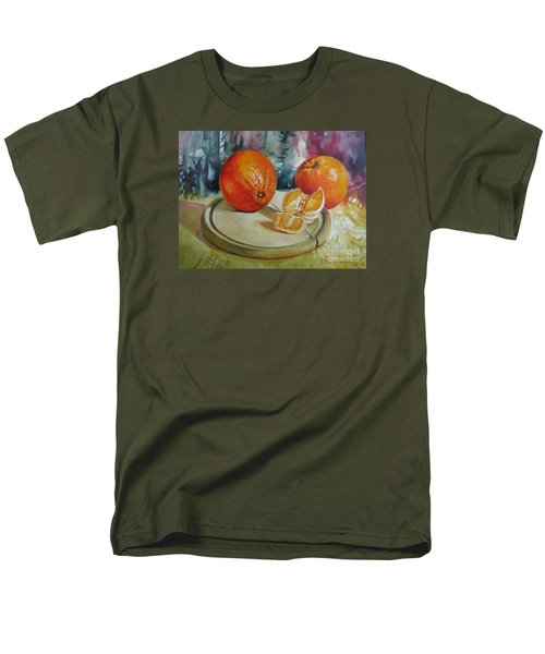 Men's T-Shirt  (Regular Fit) featuring the painting Oranges by Elena Oleniuc