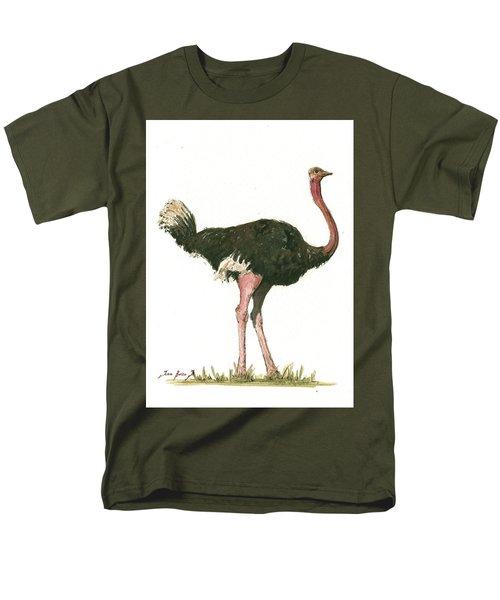 Ostrich Bird Men's T-Shirt  (Regular Fit) by Juan Bosco