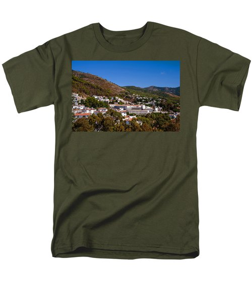 Men's T-Shirt  (Regular Fit) featuring the photograph Overview Of Mijas Village by Jenny Rainbow