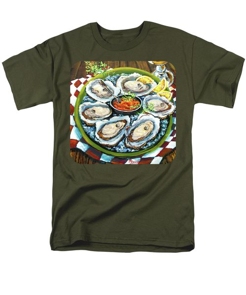 Oysters On The Half Shell Men's T-Shirt  (Regular Fit) by Dianne Parks