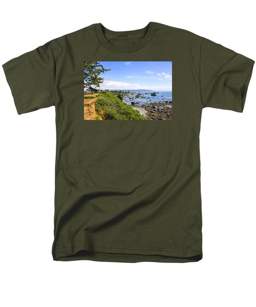 Pacific Coastline In California Men's T-Shirt  (Regular Fit) by Chris Smith
