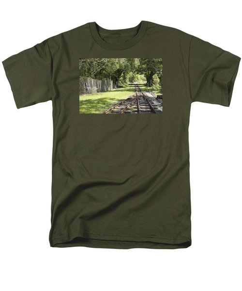 Padarn Lake Railway Men's T-Shirt  (Regular Fit) by Christopher Rowlands