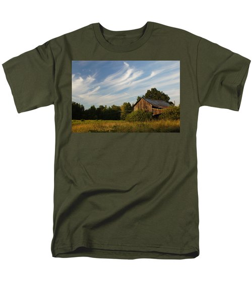 Painted Sky Barn Men's T-Shirt  (Regular Fit) by Benanne Stiens